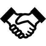 フリーの握手アイコン